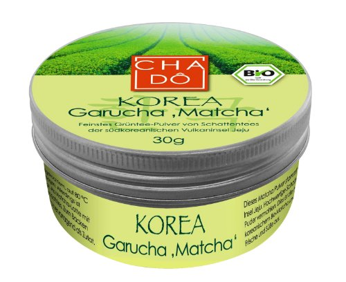 30 g bio premium gr ner tee korea garucha matcha cha d. Black Bedroom Furniture Sets. Home Design Ideas